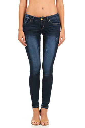 cover girl Women's Five Pocket Classic Wash Slim Fit Skinny, Varsity Blue, 7/8