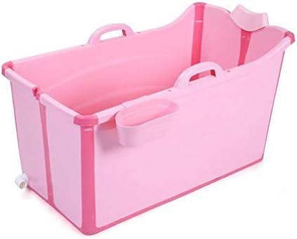 ホームでの大人のための快適バスタブと大人の折り畳み式のバスタブ大型プールバスタブバスタブバスタブ (Color : Pink)