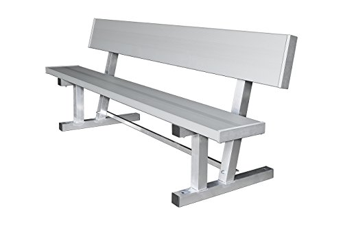- Kwik Goal 6' Bench with Back, Silver