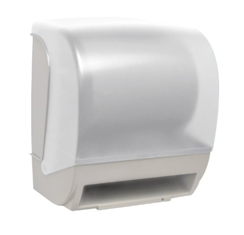 Palmer Fixture TD0235-03P Inspire Electronic Hands Free Roll Towel Dispenser, White Translucent