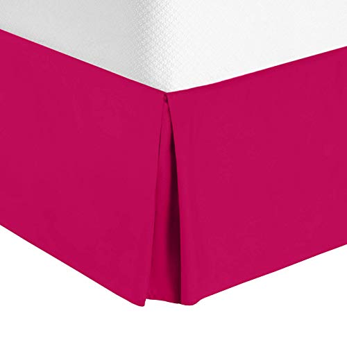 Nestl Bedding Pleated Bed Skirt - Luxury Microfiber Dust Ruffle, 14