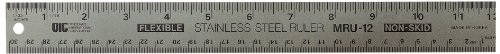 Officemate OIC Classic Stainless Steel Metal Ruler, 24 inches with Metric Measurements (66614) (Best Printer For Graphic Design)