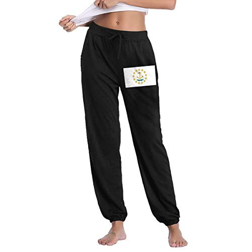 XingxDianD Rhode Island Flag Women's Joggers Sweatpants Cotton Long Pants with ()