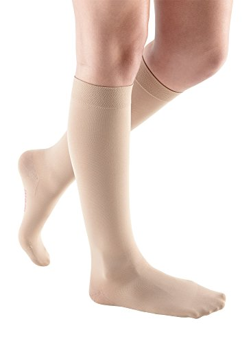 [Medi comfort Knee High Petite 20-30mmHg Closed Toe, V, Sandstone] (Medi Comfort Knee High)