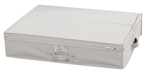 (South Shore Storit Canvas Underbed Storage Box, Off-White)