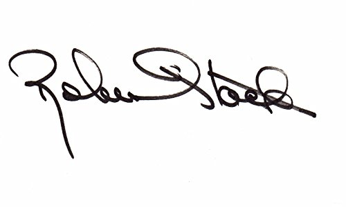 Robert Stack Signed - Autographed 3x5 inch Index Card - Unsolved Mysteries - The Untouchables - Deceased 2003 - Guaranteed to pass PSA/DNA or JSA (3x5 Index Card Signed Autographed)