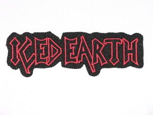 """ICED EARTH Logo Iron On Heavy Metal Patch Approx: 4.7""""12.3cm x Approx: 1.5""""/4cm By MNC Shop"""