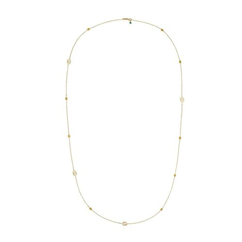 (Gucci Running G 35.5 inch Necklace in 18kt Yellow Gold YBB48163200100U)