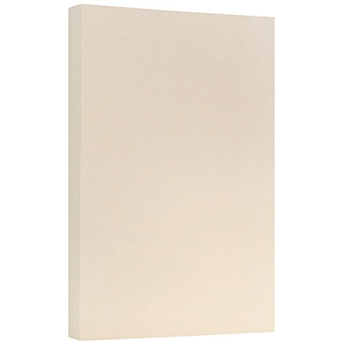 JAM PAPER Legal Parchment 24lb Paper - 8.5 x 14 - Nautral Recycled - 100 Sheets/Pack