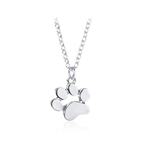 Clearance ! Dog Footprint Necklace,Vanvler Men Women Animal Pendant Necklace Jewelry (Silver) by Vanvler Necklace (Image #1)