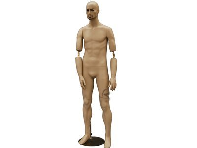 (MD-BC8) ROXYDISPLAYTM Male Mannequin, Flexible arms. Copper arm Joints