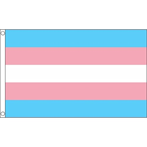 5ft x 3ft (150 x 90 cm) New Transgender Gay Pride 100% Polyester Material Flag Banner Ideal For Pub Club Festival Business Party Decoration UKFLAGSHOP