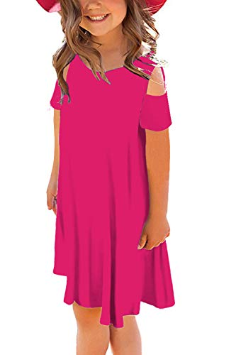 storeofbaby Little Girls Sumer Casual Dress Loose Midi