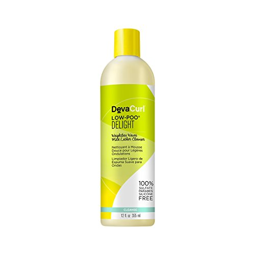 DevaCurl Low Poo Delight Cleanser; Mild Lather; Gentle for All Hair Types; Sulfate; Paraben and Silicone Free; 12 Ounce