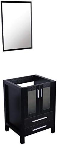 U-Eway Black Bathroom Vanity Without Countertop,24Lx20Wx32H,2 Drawers Wood MDF Bathroom Vanity Only