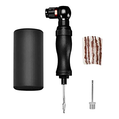 JJSCHMRC 2-in-1 geïsoleerde inflator snel en eenvoudig – Presta & Schrader ventiel CompatibleCO2 Mini hogedrukfietspomp…