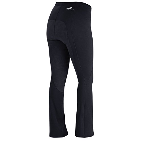 (Irideon Ladies Wind Pro Full Seat Boot Cut Riding Pants - Size:Small Color:Black)