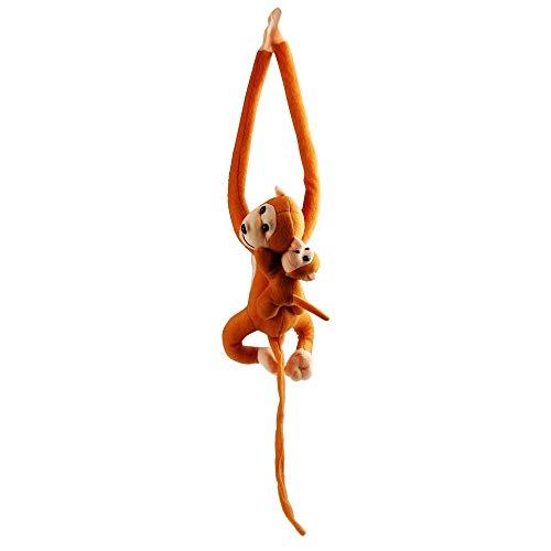 zongrong Screech Monkey,Mother and Son Cute Screech Monkey Plush Toy Doll Gibbons Kids Gift