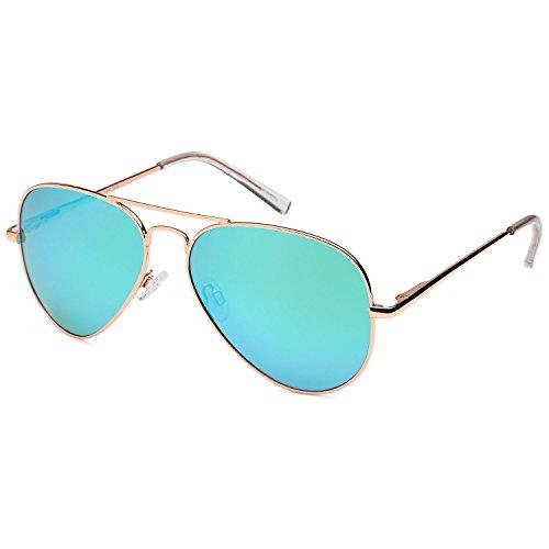 JETPAL Premium Classic Aviator UV400 Sunglasses w Flash Mirror Lenses