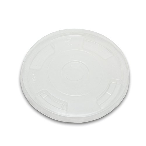 Planet + 100% Compostable PLA Lids for 9/12/16/20/24-Ounce Clear Cold Cups, Flat Style, 1000-Count Case by Stalkmarket