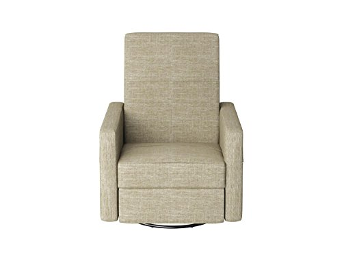 Dutailier Minho Upholstered Glider Recline, Swivel with Built-in Footrest, Putty Beige by Dutailier