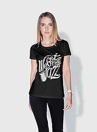 Creo We Got The Jazz Trendy T-Shirts For Women - L, Black