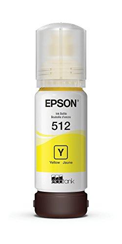 Epson T512 EcoTank Yellow Auto-Stop Ink Bottle (ET-7700, - Genuine Inkjet Yellow Epson