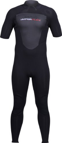 Hyperflex Wetsuits Men's Cyclone2 2mm Short Sleeve Full Suit, Black, 3X-Large