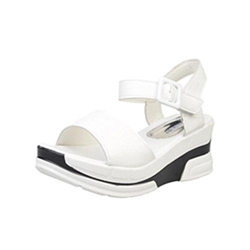 Femmes Dame Mode de Bascules D'été Blanc Familizo Sandales FzwTqHw