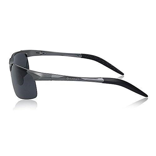 f477394e13 SUNGAIT Men s HD Polarized Sunglasses for Driving Fishing Cycling Running  Metal Frame UV400 (Gunmetal
