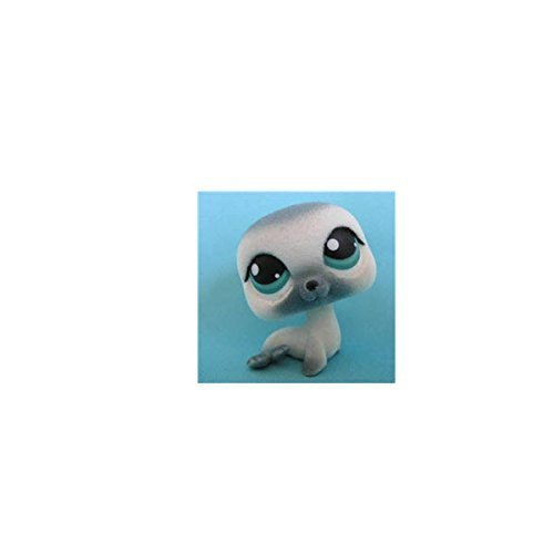 Littlest Pet Shop Soft And Fuzzy Seal # 399 (White With A Gray Nose And Blue Eyes) - LPS Loose Figures - Replacement Pets - LPS Collector Toy (Out Of Package/OOP)