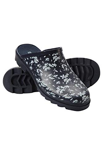 Mountain Warehouse Womens Slip On Rubber Printed Wellies – Waterproof Ladies Rain Boots, EVA Footbed Wellington Shoes…