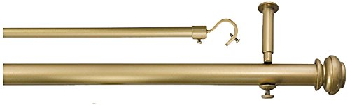 (Source Global Bold Pole Double Rod Set 48 by 74-Inch, Metallic)