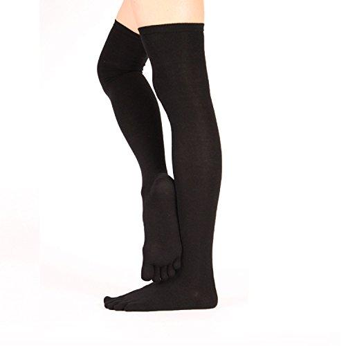 Knee Socks Black Toe Thigh Fashion High TOETOE Over FqvP6xT