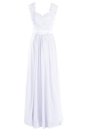 A Weiß Damen Linie Fanciest Kleid CI5WxwnTZq