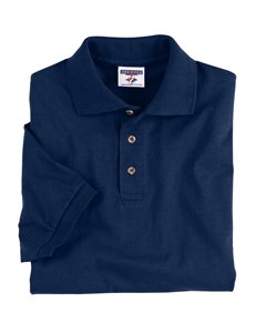 Jerzees mens 6.1 oz. Heavyweight Cotton Jersey Polo(J100)-J NAVY-L -