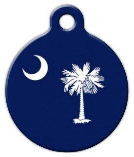 Custom Pet ID Tag for Dogs and Cats Dog Tag Art South Carolina Flag