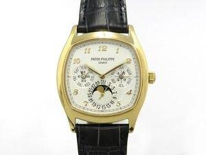パテック フィリップ PATEK PHILIPPE グランドコンプリケーション 永久カレンダー アイボリー文字盤 メンズ 腕時計 【中古】 B077RXVWBJ