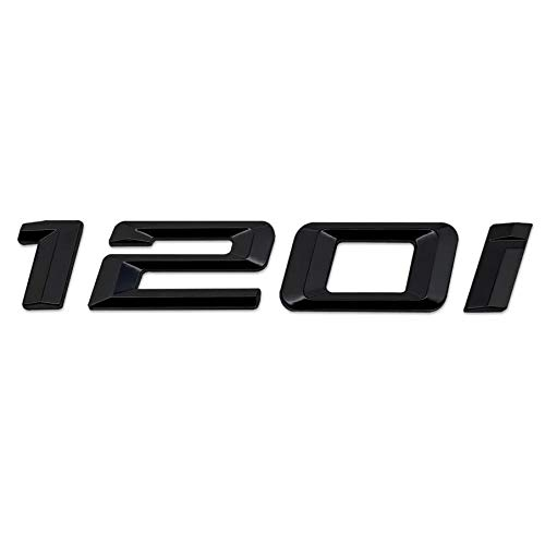 F40 Models F52 F20 E88 E87 F21 Schwarz gl/änzend 120i Lettering R/ückseite Boot Lid Trunk Abzeichen Emblem f/ür 1 Series E81 E82