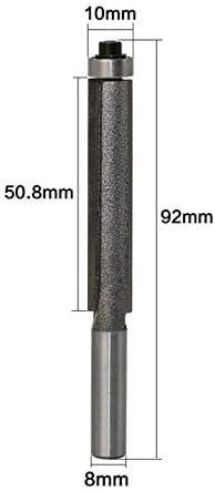NO LOGO XW-MUGONGXIDAO, 1 stück 8mm Schaft Hartmetall Lange Klinge Flush Flush Trim Fräser Mit Lager Holz Fräser (Size : As Show)