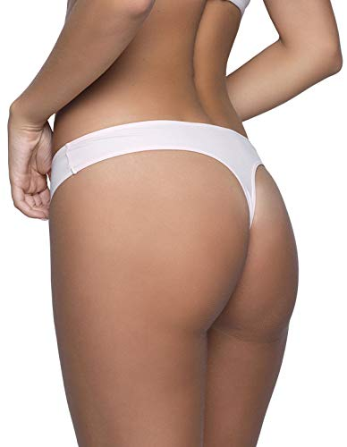 After Eden 35 10 White Women's Panty Thong Embroidered 6020 Jo 010 wxrwdHqS