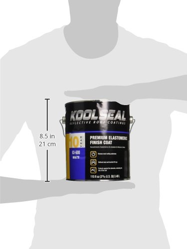 Kool Seal KST063600-16 Elastomeric Roof Coating, 115 fl oz., Liquid, White,