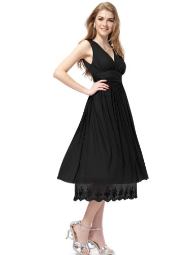 HE0279BBK18 Black 16US Ever Pretty Wedding Guest Dresses Summer 0279B
