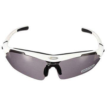 5c55150841 Generic RockBros Polarized Cycling Bike Bicycle Sunglasses Glasses Goggles-White   Amazon.in  Sports