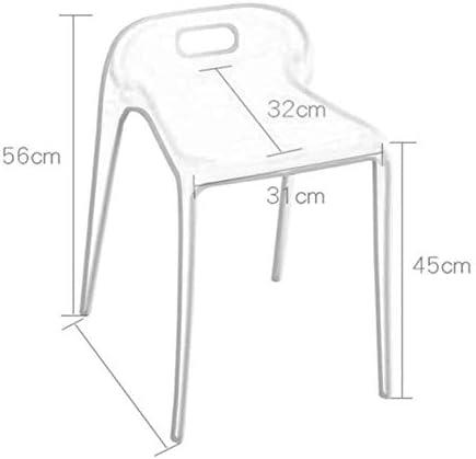 A/N Pouf carré Chaise - Mode Chaise en Plastique Restaurant créatif Table à Manger Tabouret Maison Haut Tabouret épais Adulte Petit Banc Moderne Minimaliste