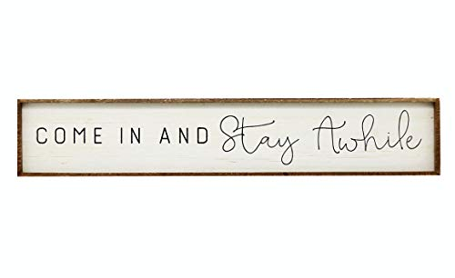 """NO/BRAND Large Horizontal Wooden Signs with Sayings-Come in and Stay Awhile,Farmhouse Wood Wall Plaque,59""""x11"""""""
