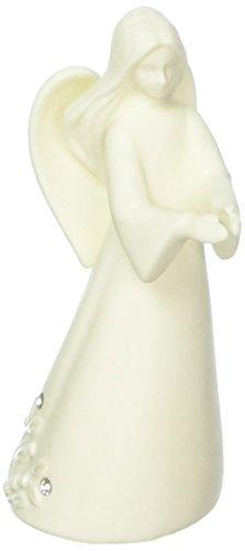 Foundations Angel with Prayer Porcelain Cardholder Figurine, 4.5