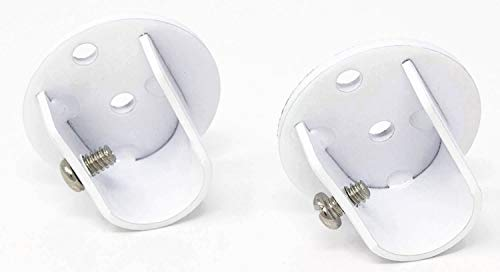 (Urbanest Set of 2 Inside Mount Brackets for 5/8-inch to 3/4-inch Curtain Rods, Glossy White)