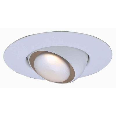 Commercial Electric 6 in. R30 White Recessed Eyeball Trim CAT603WH T3
