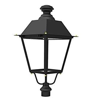 Docheer 60W Outdoor LED Top Post Light ( 200W Eq.) Outdoor High Post Lantern LED Street Light,5000K Daylight White,6600 Lumens, great for Parks, Streets, Parking Lots, Pathways